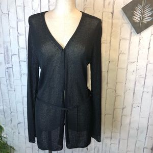 French I Mesh knit cardigan. Size large